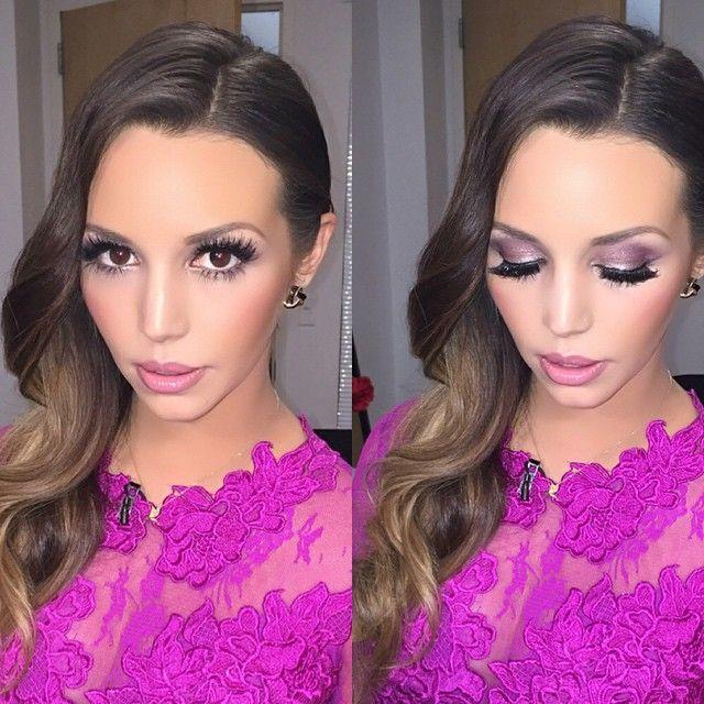 Love @scheanamarie makeup. Purple and fuschia themed.