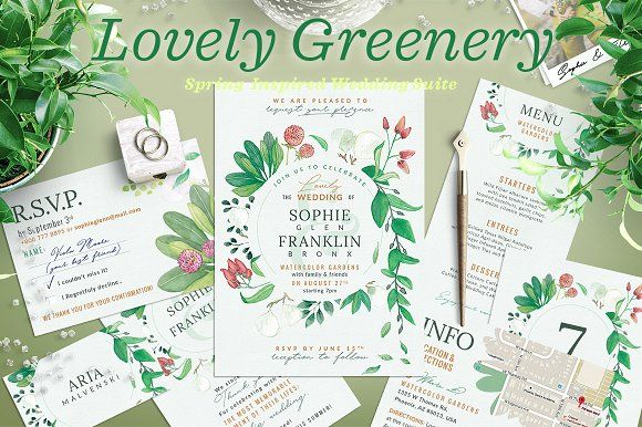 Wedding suite x lovely greenery i creativework247 wedding wedding suite xi lovely greenery iii templates the lovely greenery iii complete wedding set xi is now availablecant help myself im by the wedding stopboris Choice Image