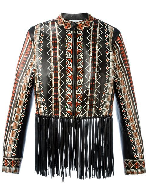 Shop Valentino tribal print fringed jacket in Stefania Mode from the world's best independent boutiques at farfetch.com. Shop 400 boutiques at one address.