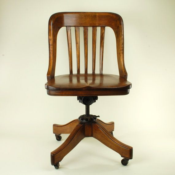 Astounding 1920S Milwaukee Chair Co Roundback Bankers By Caraccident5 Cool Chair Designs And Ideas Caraccident5Info
