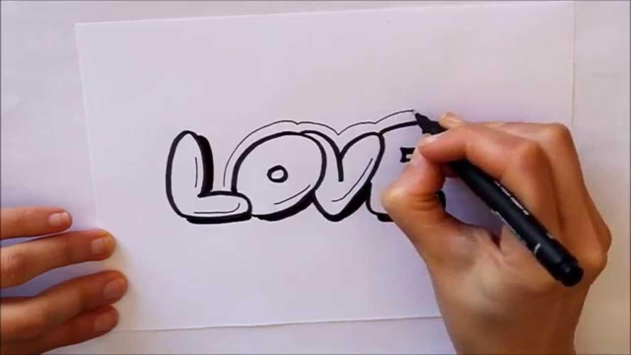 Como Dibujar Love How To Draw Love Letters Targetas De Amor