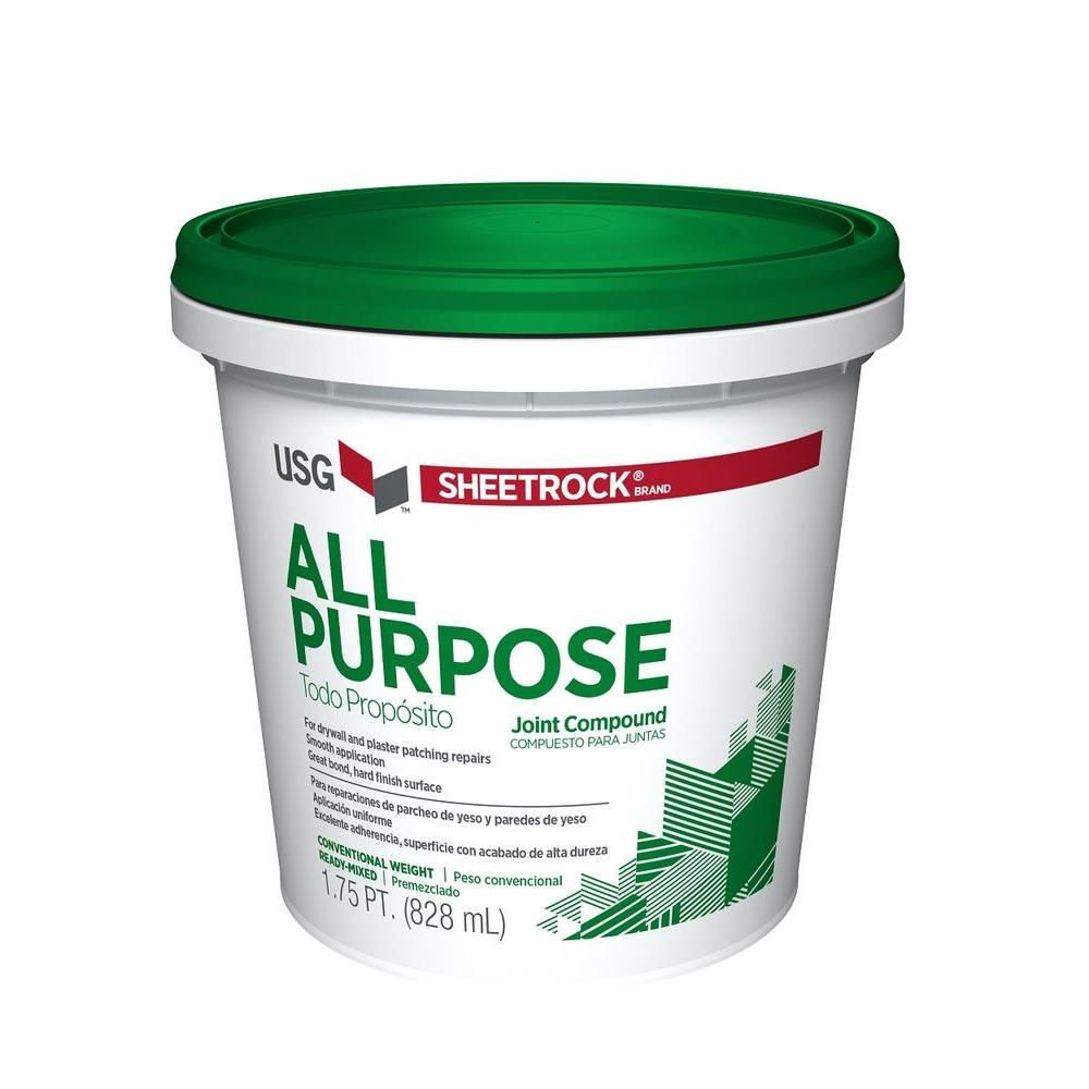 Sheetrock All Purpose 1 75 Pt Pre Mixed Joint Compound 380270 The Home Depot Drywall Joint Compound Custom Pantry Plaster Repair