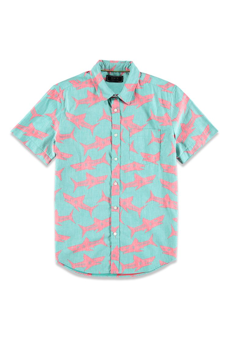 47103abb Reverse Shark Print Shirt | 21 MEN - 2000114906 | 80s design ...