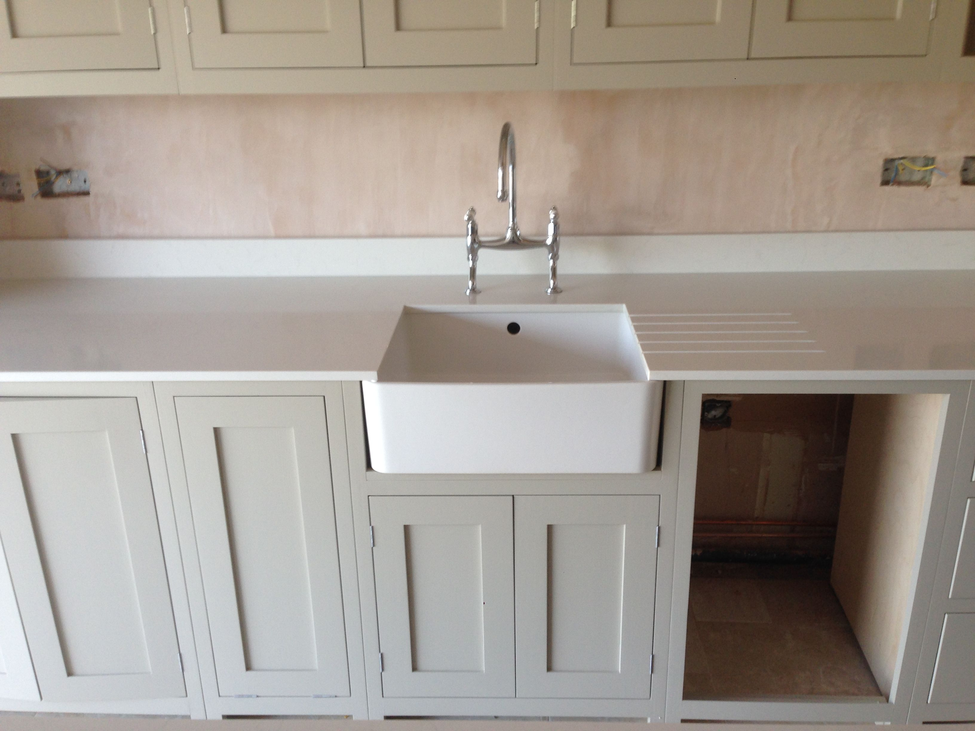 Quartz Worktops Sink In Thick Tops