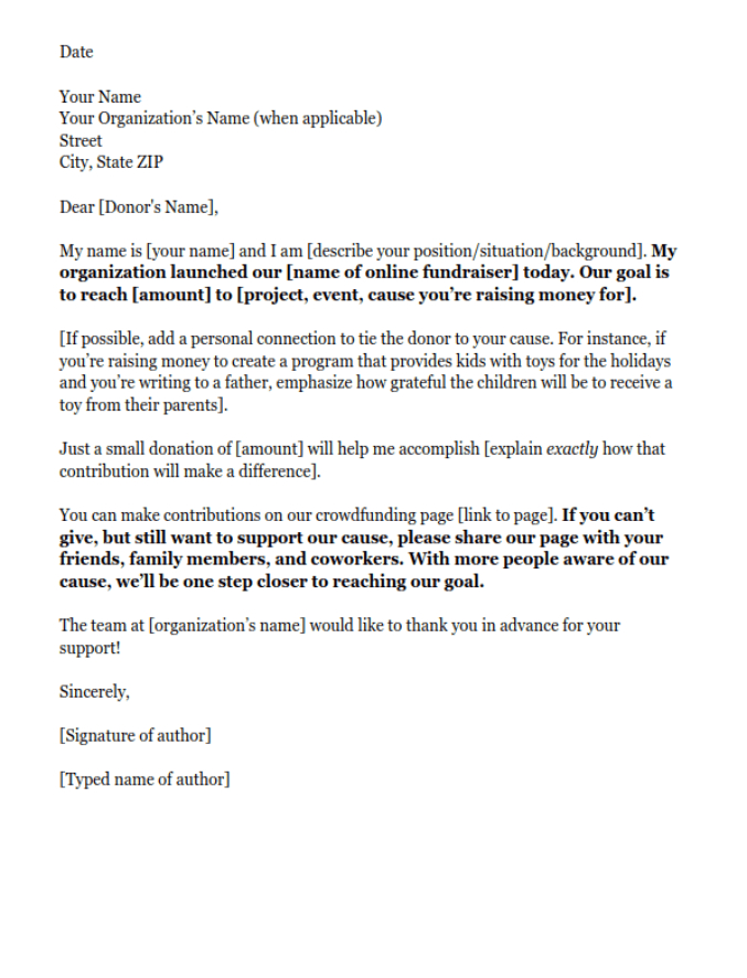 Fundraising Letters 7 Examples To Craft A Great Fundraising With How To Write A Donation In 2021 Fundraising Letter Donation Letter Template Donation Request Letters