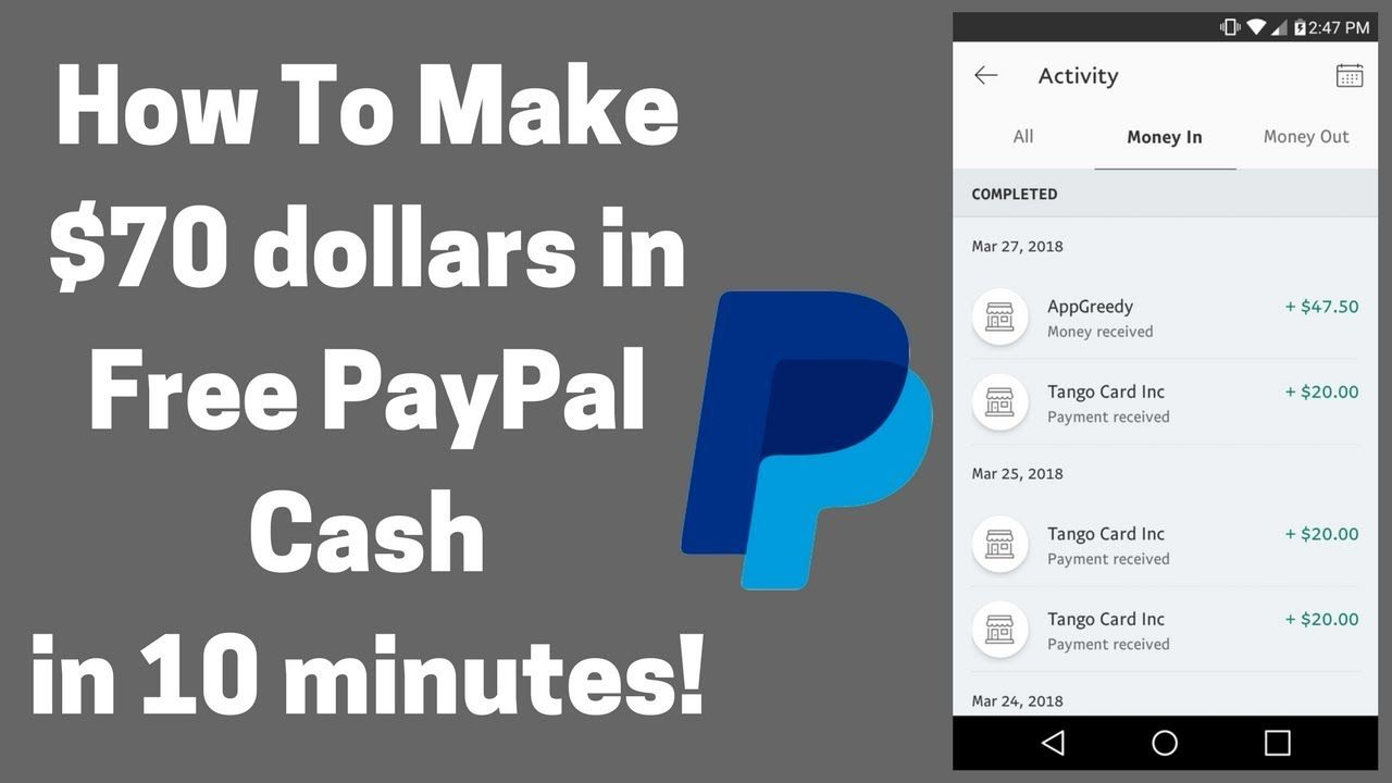 How To Make $70 dollars in Free PayPal Cash in 10 minutes