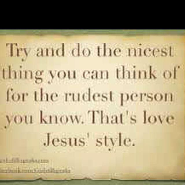 Love....Jesus style!