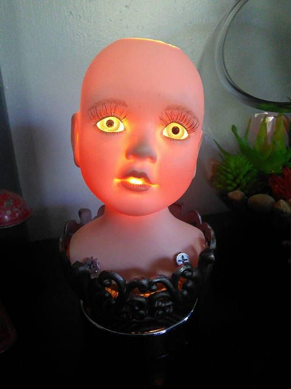 Elegant Weird Baby Doll Head Lamp Inspired By Tim Burton Stuff And Silent Hill | Doll  Head, Baby Dolls And Light Bulb