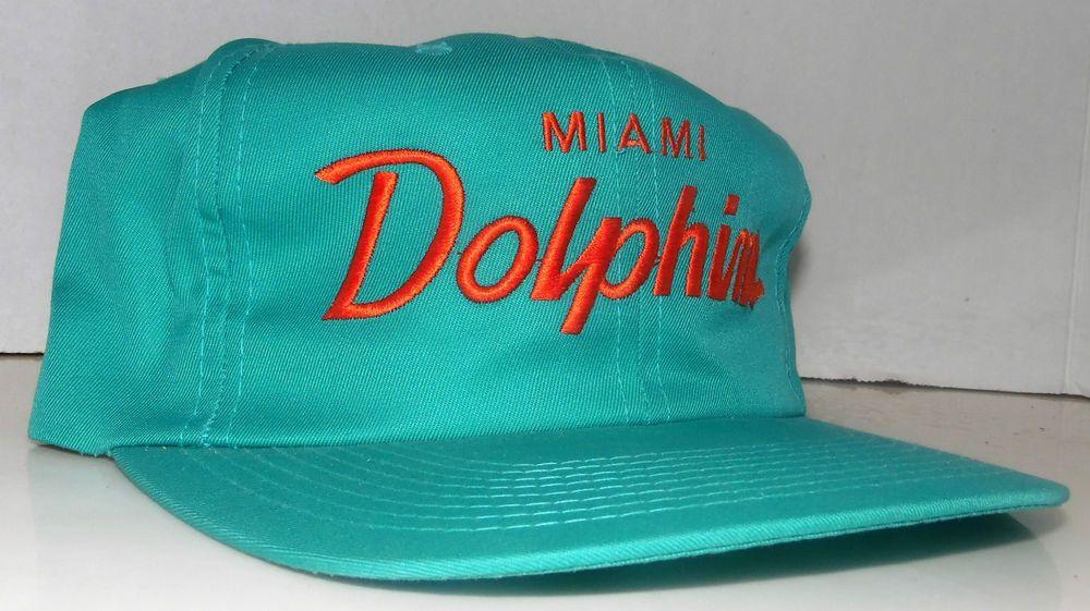 e7e4fa3f2d02f Miami Dolphins NFL Vintage Sports Specialties The TWILL Script Snapback Hat  Cap  SportsSpecialties  MiamiDolphins