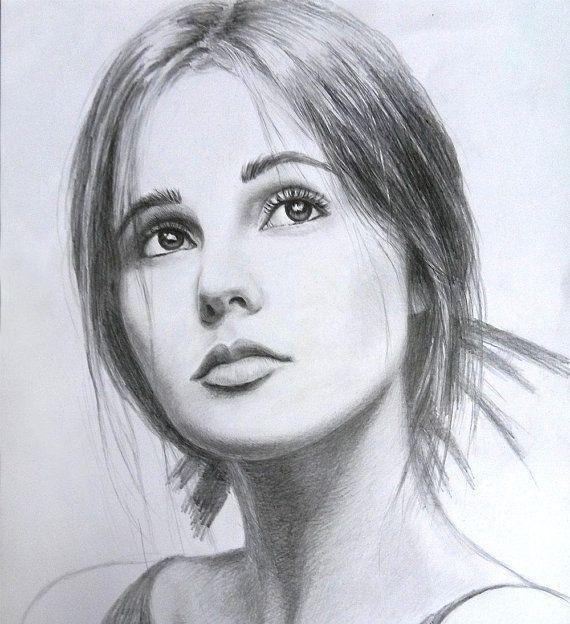 Custom Pencil Portrait Hand Drawn Portraits Custom Pencil | Etsy