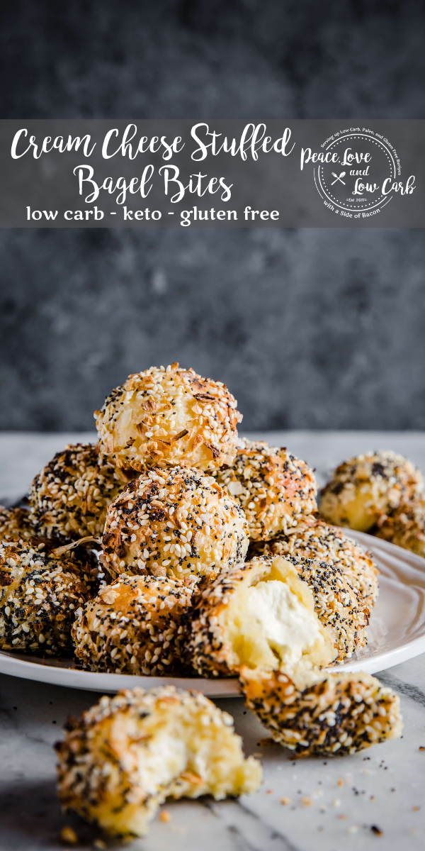 Cream Cheese Stuffed Everything Bagel Bites | Peace Love and Low Carb