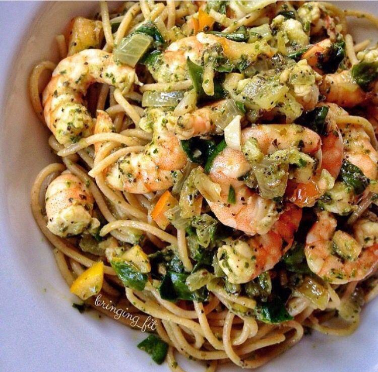 Yum! #EatHealthy #ShrimpPasta