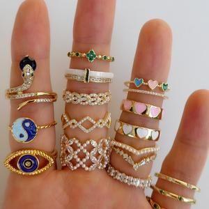 White Lina Heart Ring – Love Stylize