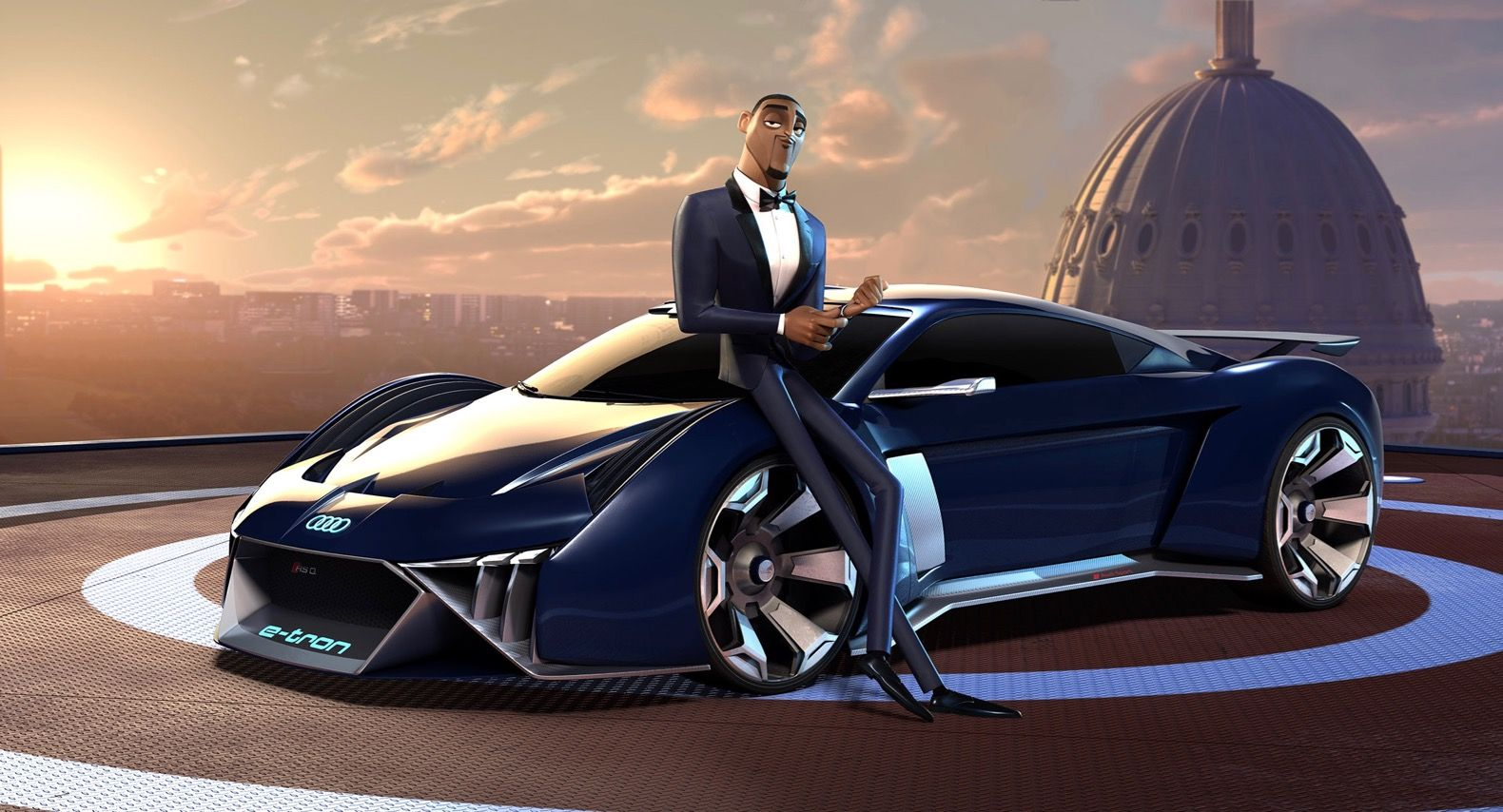 Audi Rsq E Tron Concept Stars In Spies In Disguise Blue Sky