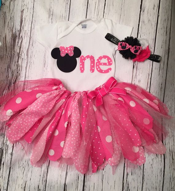96116daf6e5 Minnie Mouse Birthday Outfit. Minnie First Birthday Outfit. Minnie ...