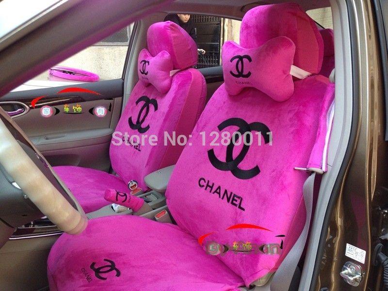 pas cher rose pas bonjour si ge d 39 auto couvre kitty accessoires pour voiture 5 places. Black Bedroom Furniture Sets. Home Design Ideas