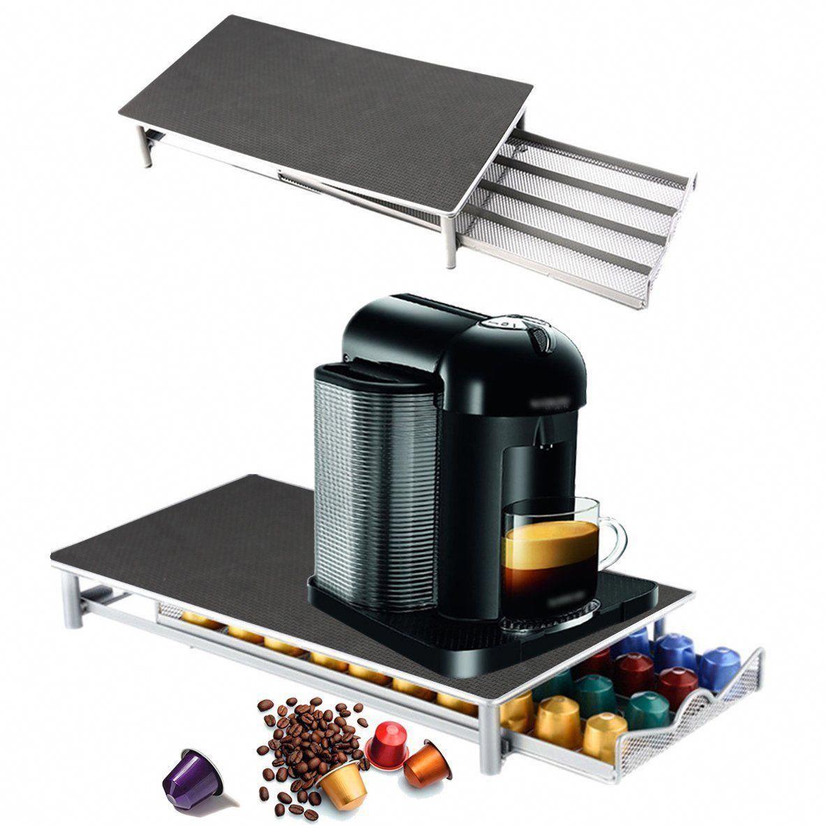 COFFEE MACHINE STAND /& CAPSULE POD STORAGE HOLDER DRAWER NESPRESSO DOLCE GUSTO