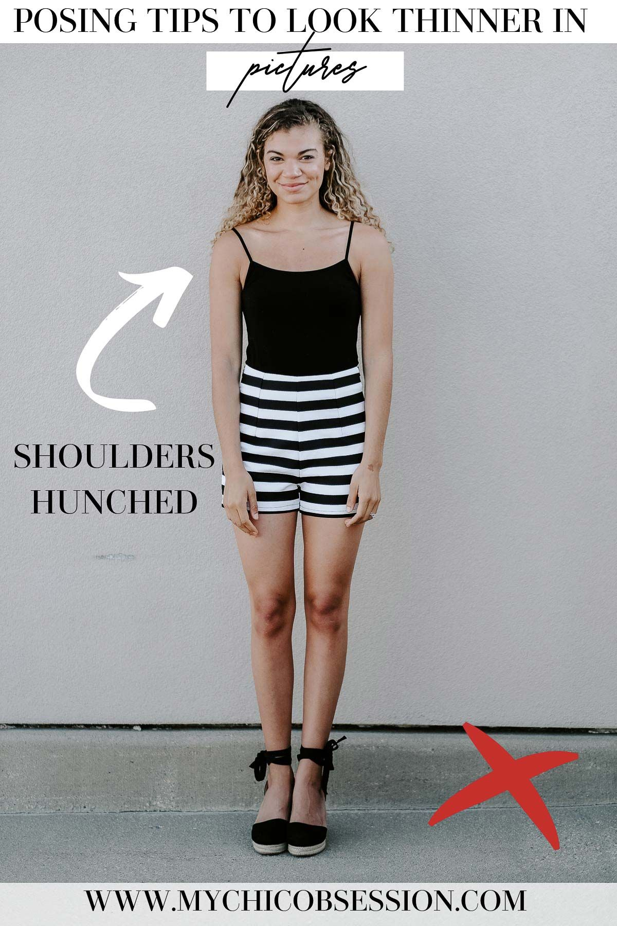 12 posing tips to make you look thinner in pictures with