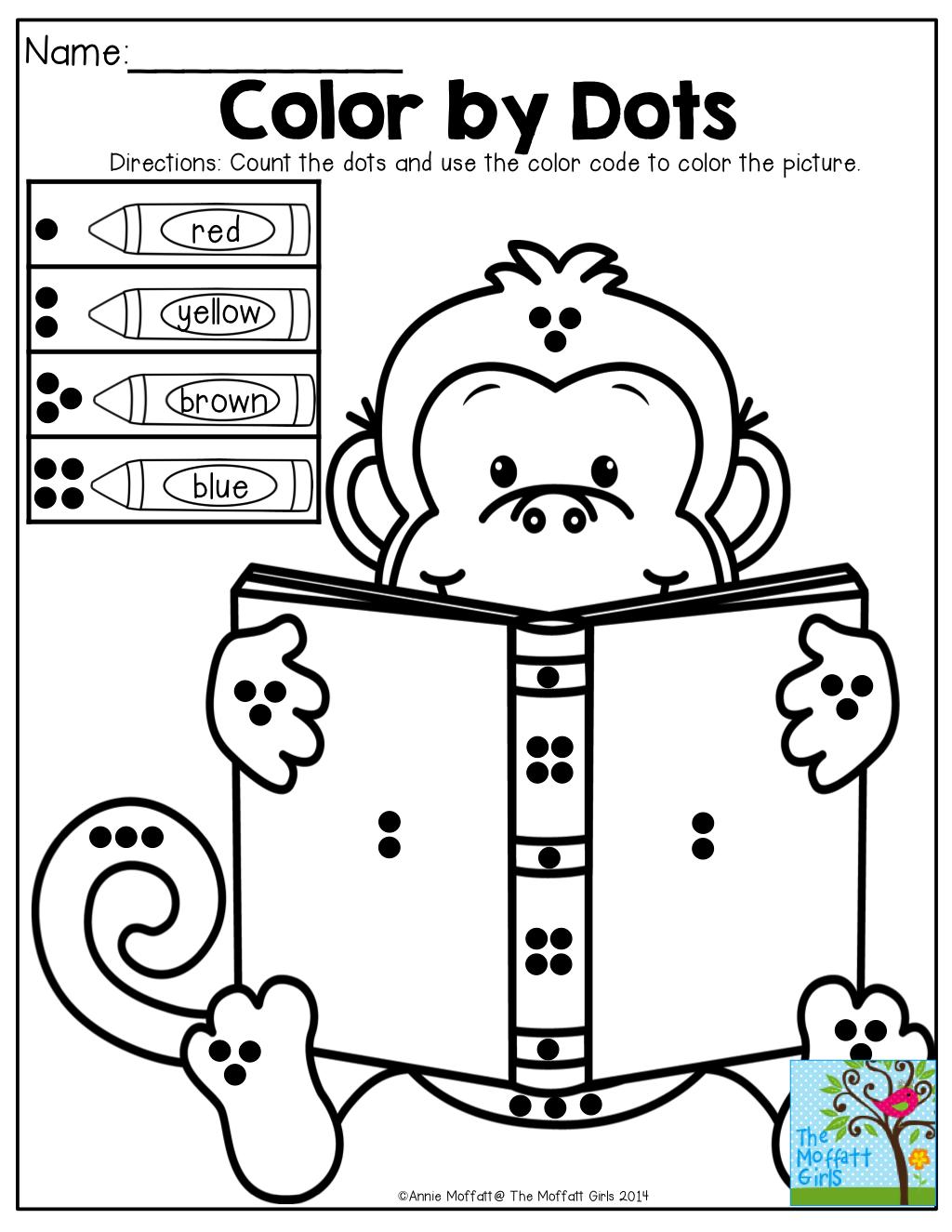 Color By Number Math Worksheets Kindergarten