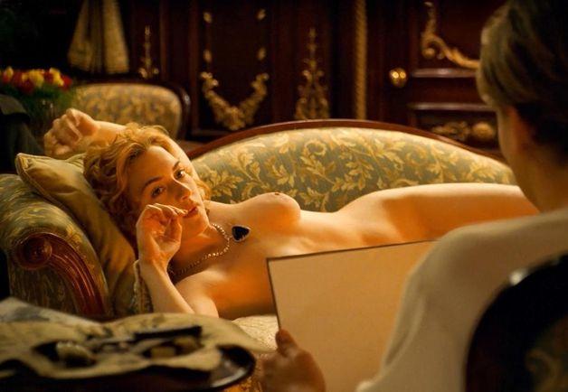 Kate winslet breast in titanic