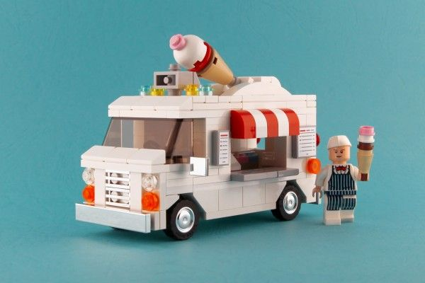 Ice Cream Truck Pleyworld Designs Lego Food Lego Ice Cream Car