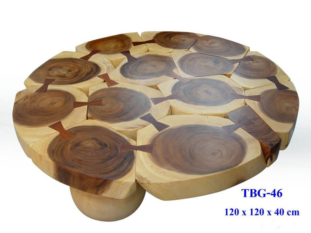 Unique Sliced Blocks Acacia Wood Slab Round Coffee Table By Clayton Oxford  Unique Ideas Of Wood Slab Coffee Tables For Living Room Furniture Coffee  Table ...