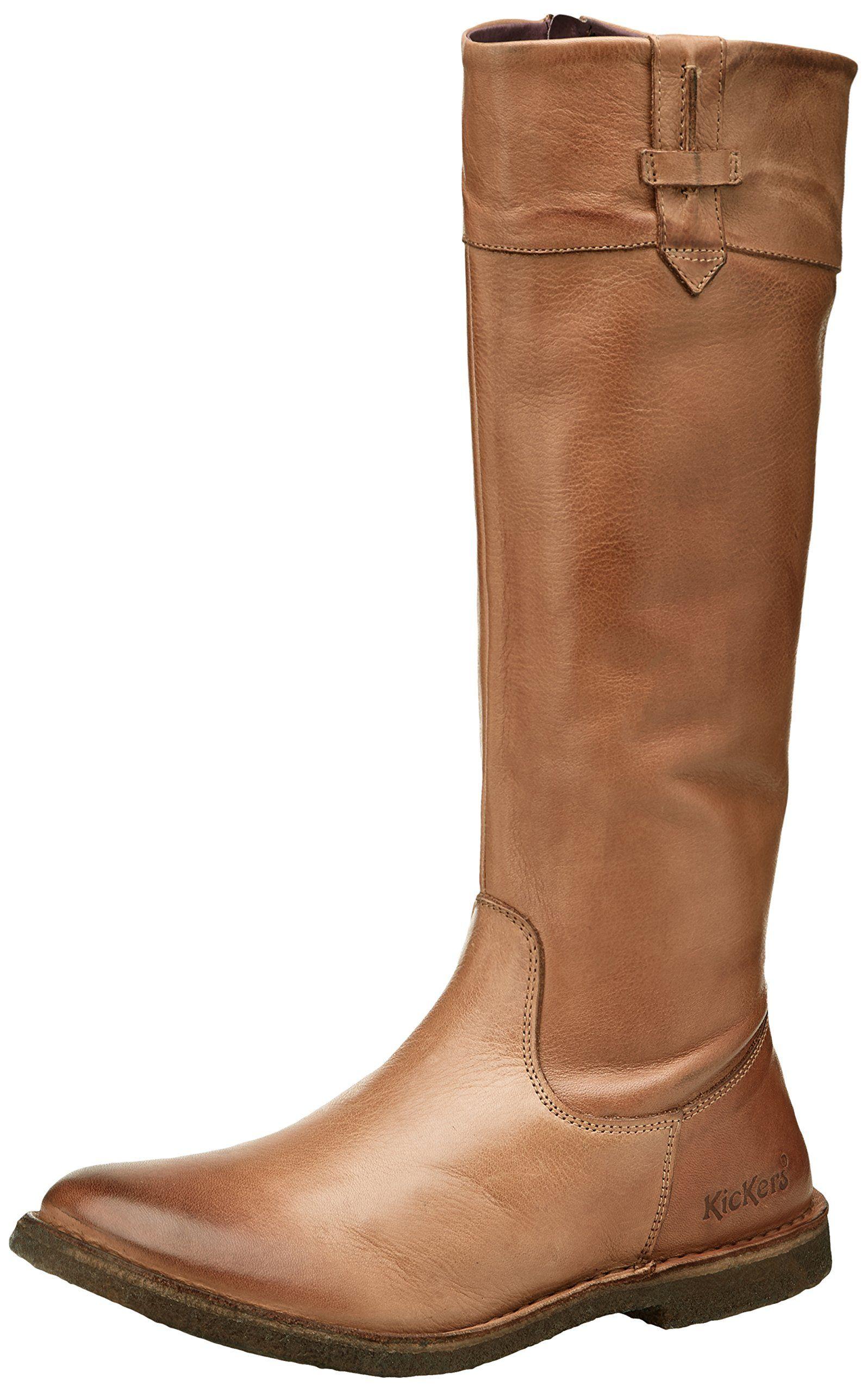 kickers cresus, bottes classiques femme, marron (camel), 42 eu