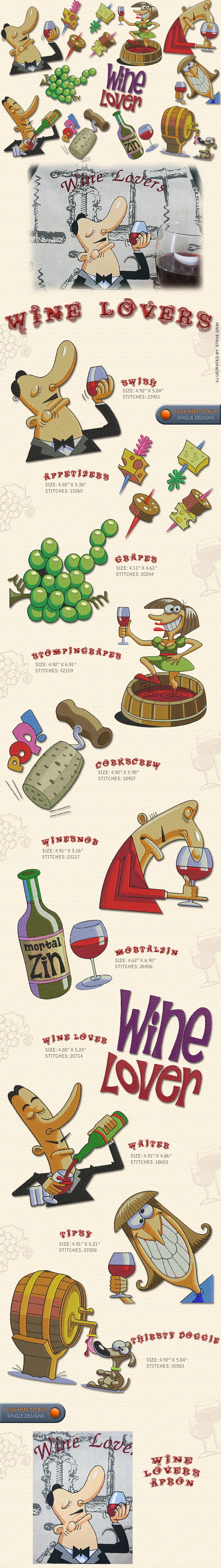 WINE LOVERS, Embroidery Designs Free Embroidery Design Patterns ...