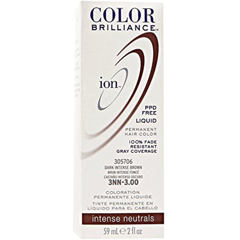 Nn dark intense brown permanent liquid hair color by ion click