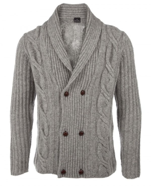 Stay warm in the cold with this double breasted cardigan from Paul ...