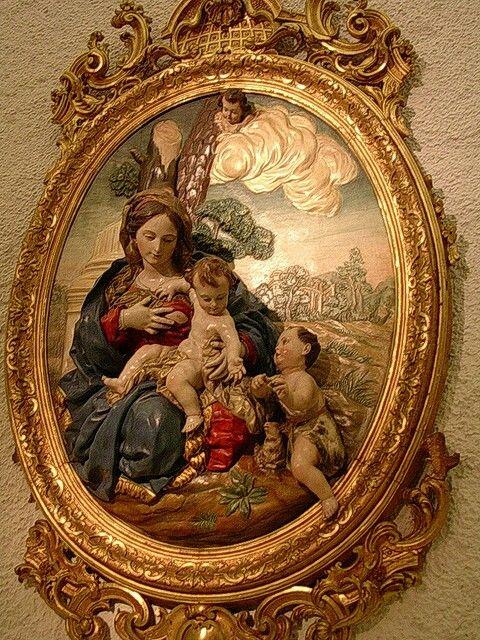 Virgen y Nino con San Juan Bautista