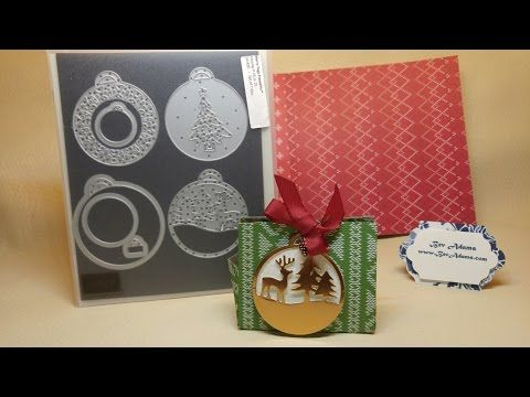 These treat bags are quick and easy to make. You can punch a hole and tie with the ribbon, but I used hidden thin magnets. The bag will hold four Hershey's Kisses or a diamond ring.  I also show in the video how to make a cord with the Copper Metallic Thread.