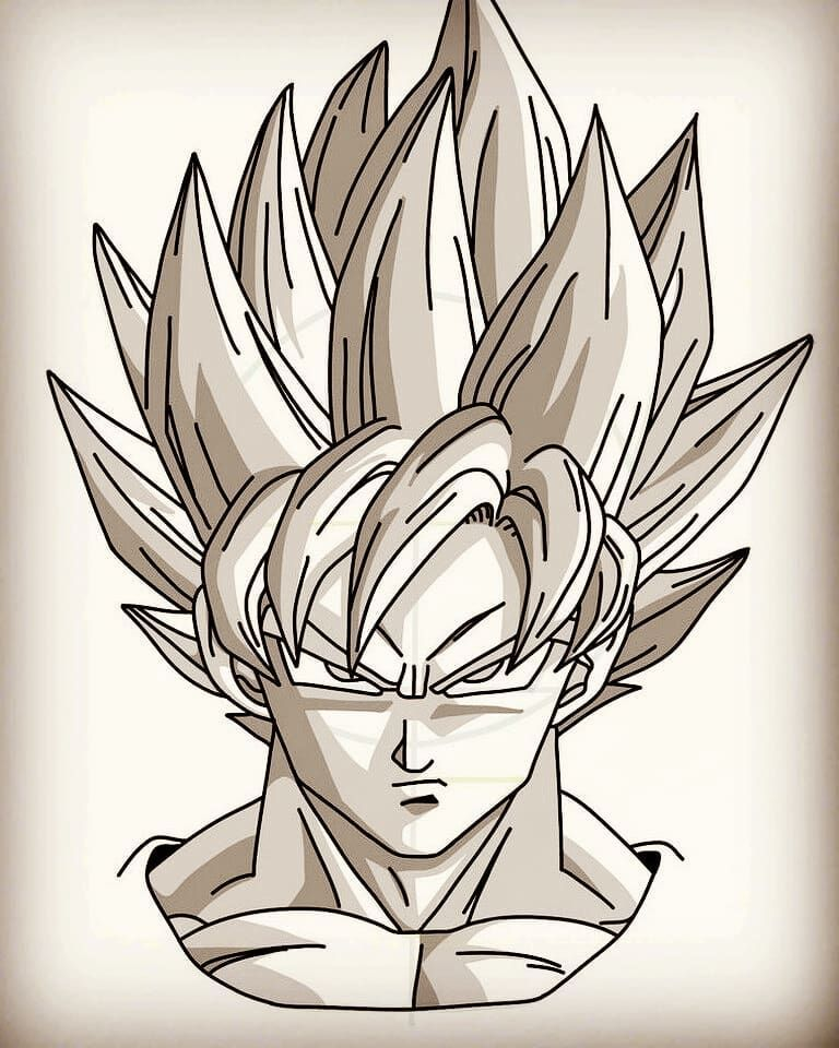 Pin By Faye Maxine Green On Dragon Ball Characters Goku Drawing