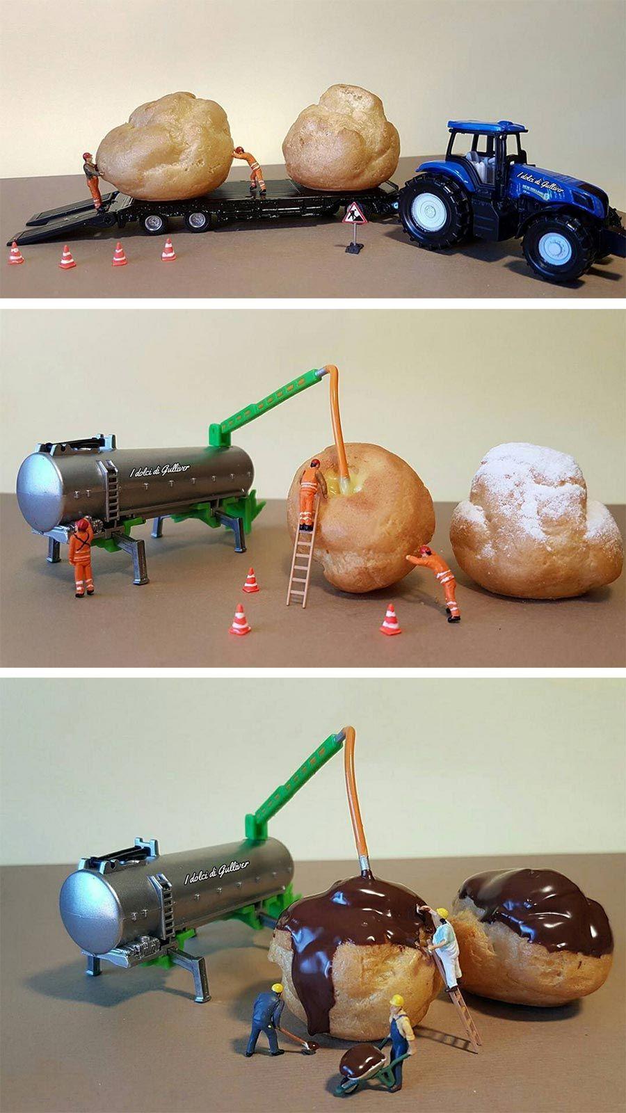 Miniatur-Küchenhelfer - Kreative Food-Fotografien von Matteo Stucchi ...