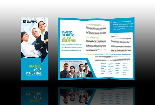 nice Executive search firms, job consultants, headhunter brochure - hospital flyer template