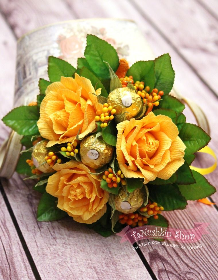 4 4 1 candy flowerscrepe paper flowerschocolate bouquetbusiness mightylinksfo
