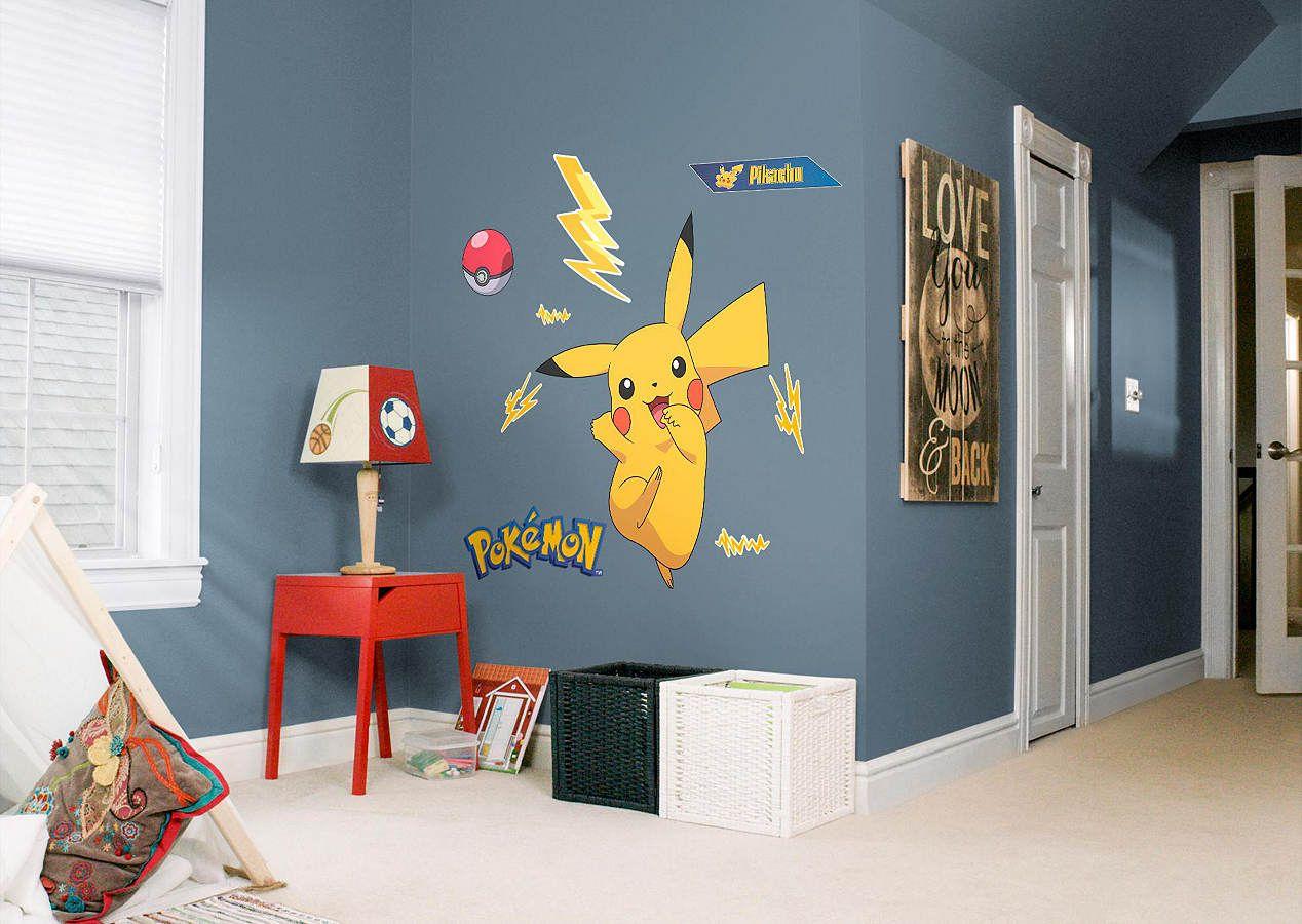 Pikachu Fathead Wall Decal Kid Room Decor Kids Room Game Room Decor