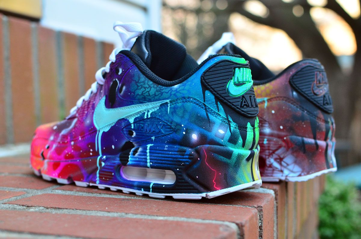 online store 2accd a531b 2016 Halloween Nike Air Max 90 Candy Drip Navy Pink Purple Custom Trainers  https