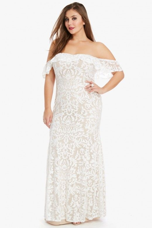 Plus Size Darling Off Shoulder Lace Maxi Dress Plus Size Maxi Dresses Lace Maxi Dress Maxi Dress