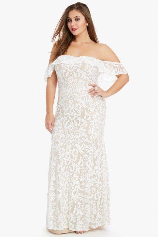 treasure off shoulder lace maxi dress $74.90 | elegant lace, swoon