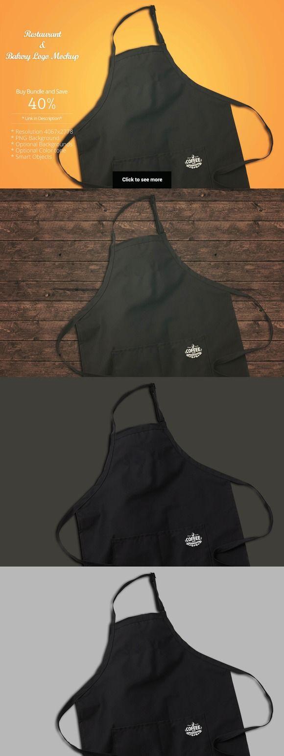 White apron mockup free - Restaurant Mockup_7 Apron