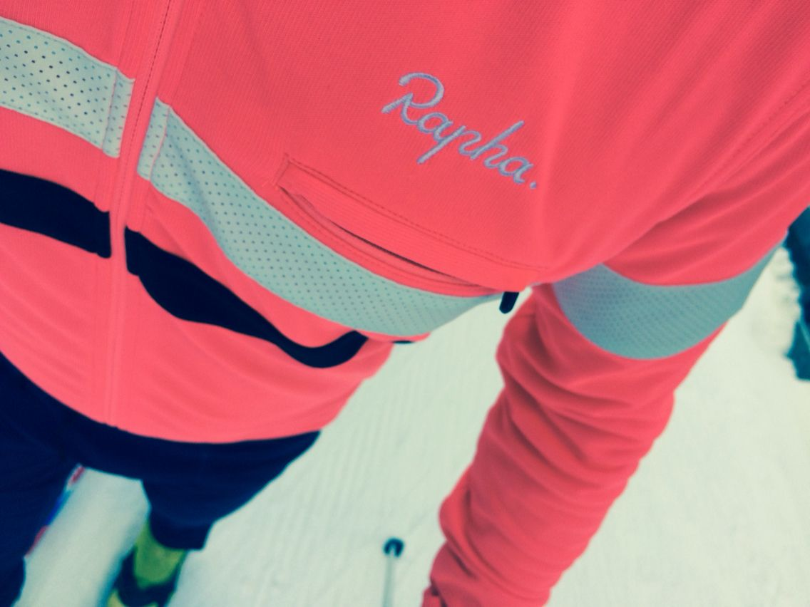 #rapha #brevet jersey long sleeve works best for #crosscountry skiing