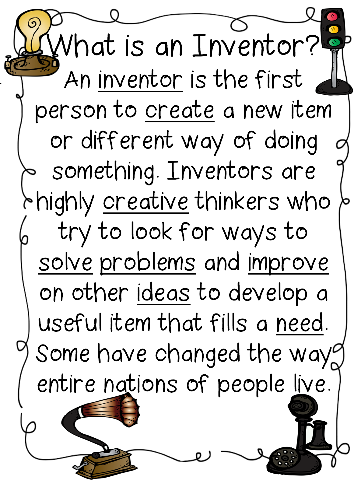 First grade wow inventors a free unit plan on the influence of first grade texas wow inventors a free unit plan on the influence of inventors tons and tons of other printables lessons and units all free buycottarizona Images