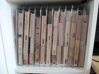 *ClayGuana: My Craft Room- Wood stamp storage using thick and thin stuftainers