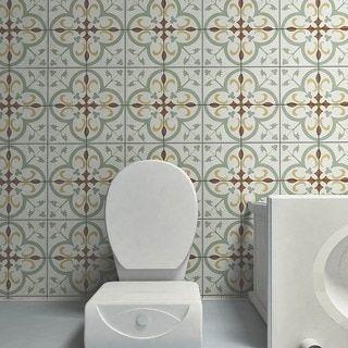 Somertile 7 75x7 75 Inch Renaissance Memory Ceramic Floor And Wall Tile 25 Tiles 11 Sqft Ceramic Floor Wall Tiles Floor And Wall Tile