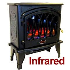edenpure heater sale infrared electric fireplace stove by redcore heats sf