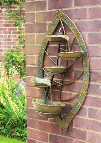 Small Solar Powered Water Feature Wall Mounted Leaf Design An Elegant Addition To Your Garde Water Feature Wall Water Features In The Garden Diy Water Feature Wall mounted water fountains outdoor