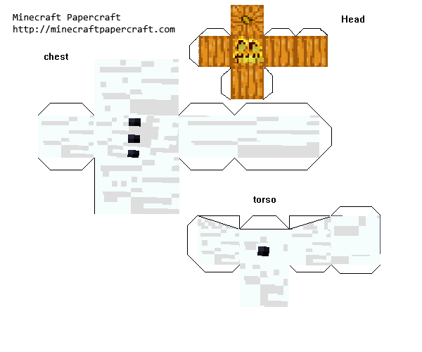 Minecraft Papercraft Mutant Snow Golem P1 N8 S Epic