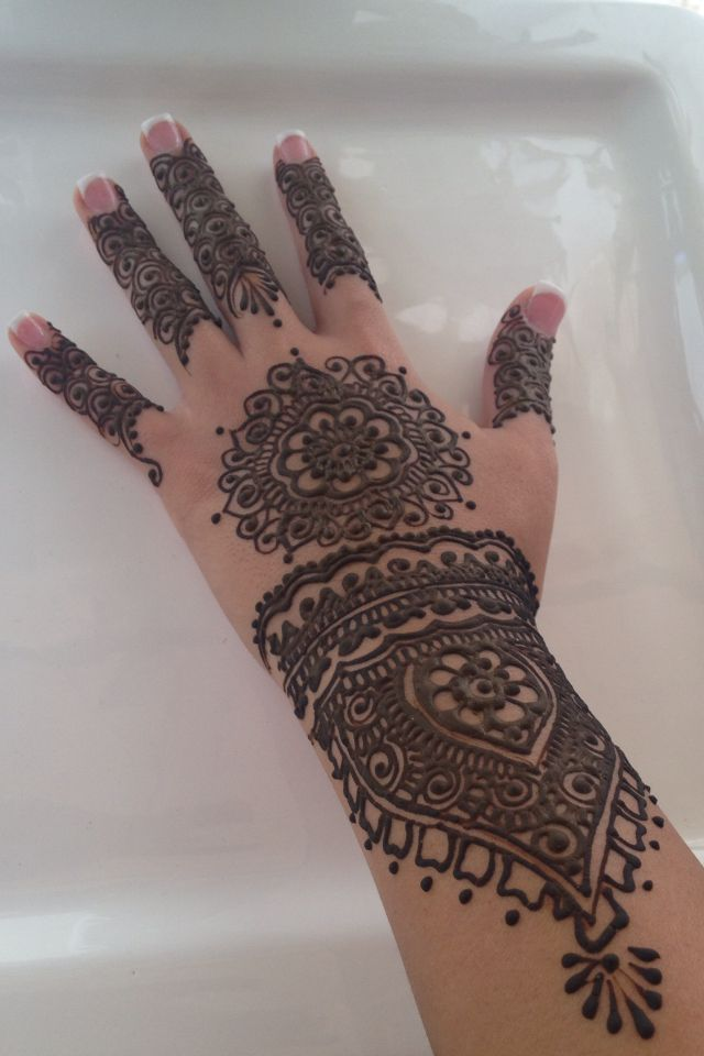 My bridal shower henna by henna San Diego