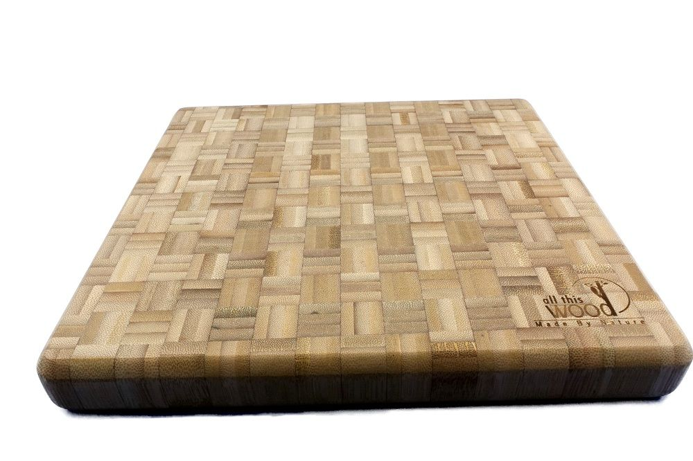 Bamboo Beveled Cutting Board 12 x 11 x 1.4 inches